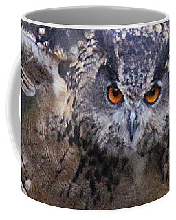 Coffee Mug featuring the photograph Eagle Owl Close Up by William Selander