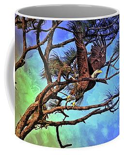 Coffee Mug featuring the painting Eagle Series 2 by Deborah Benoit