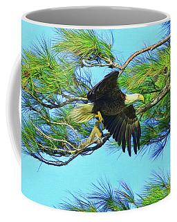 Coffee Mug featuring the painting Eagle Series Food by Deborah Benoit