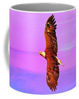 Coffee Mug featuring the painting Eagle Series Painterly by Deborah Benoit