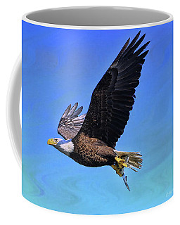 Coffee Mug featuring the photograph Eagle Series Success by Deborah Benoit