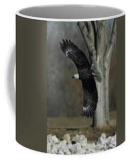 Eagle Soaring By Tree Coffee Mug