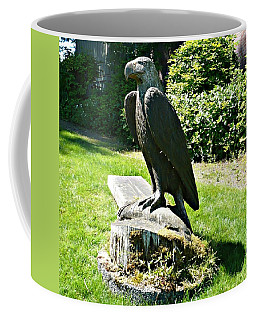 Coffee Mug featuring the photograph Eagle Totem by 'REA' Gallery