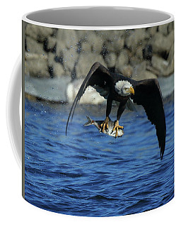 Eagle With Fish Flying Coffee Mug