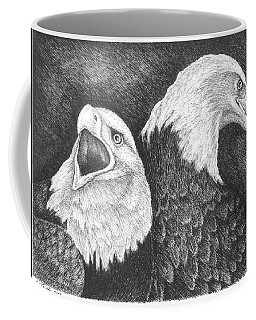 Eagles In Ink Coffee Mug by Lawrence Tripoli