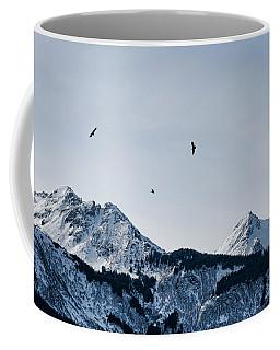 Eagles Over Mountains Coffee Mug