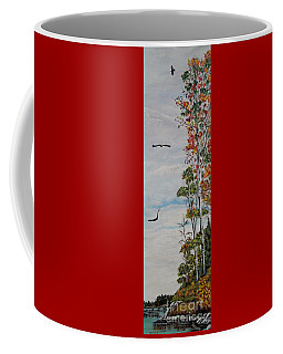 Coffee Mug featuring the painting Eagles Point by Marilyn  McNish