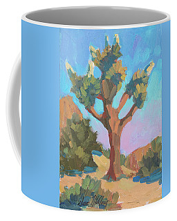 Coffee Mug featuring the painting Early Bloom Joshua by Diane McClary