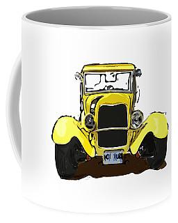 Early 1930s Ford Yellow Coffee Mug
