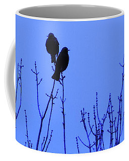 Coffee Mug featuring the photograph Early Birds by Mark Blauhoefer