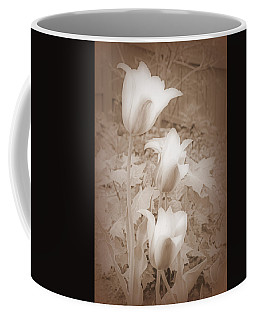 Early Blooming Tulips In Sepia Coffee Mug