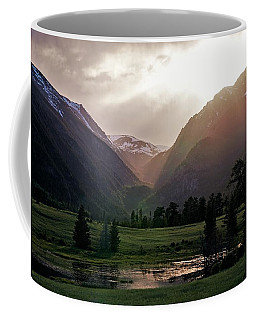 Early Evening Light In The Valley Coffee Mug