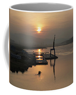 Coffee Mug featuring the photograph Early Hour On The River by Lucinda Walter