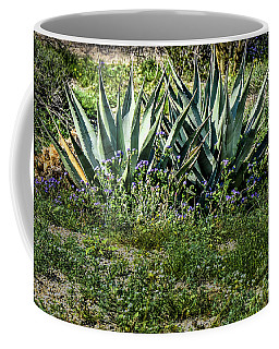 Coffee Mug featuring the pyrography Early March In Anza-borrego Desert by Daniel Hebard
