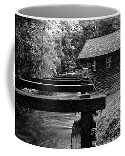 Early Morning At Mingus Mill In The Great Smoky Mountain National Park In Black And White Coffee Mug