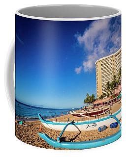 Early Morning At Outrigger Beach,hawaii Coffee Mug
