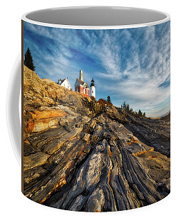 Coffee Mug featuring the photograph Early Morning At Pemaquid Point by Darren White