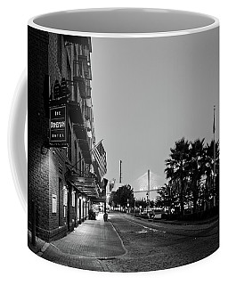Early Morning At The Bohemian Hotel In Black And White Coffee Mug