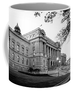 Early Morning At The Library Of Congress In Black And White Coffee Mug