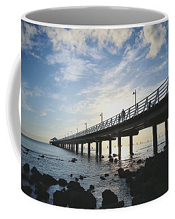 Early Morning At The Pier Coffee Mug