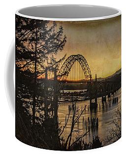 Early Morning At The Yaquina Bay Bridge  Coffee Mug