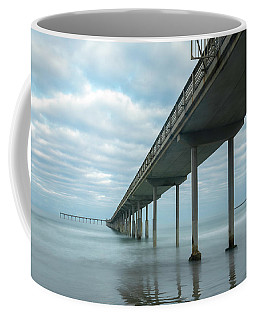Coffee Mug featuring the photograph Early Morning By The Ocean Beach Pier by James Sage