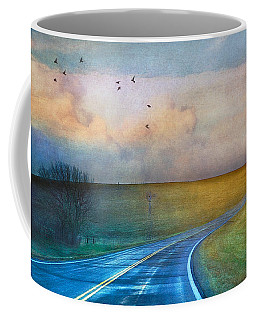 Early Morning Kansas Two-lane Highway Coffee Mug