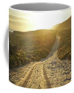 Early Morning Light On 4wd Sand Track Coffee Mug