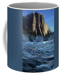 Early Morning Light On El Capitan During Winter At Yosemite National Park Coffee Mug by Jetson Nguyen