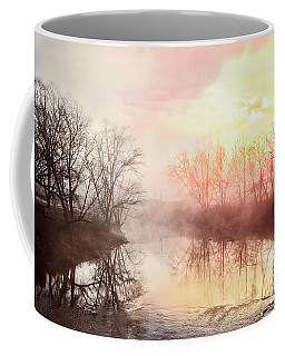 Coffee Mug featuring the photograph Early Morning On The River by Debra and Dave Vanderlaan