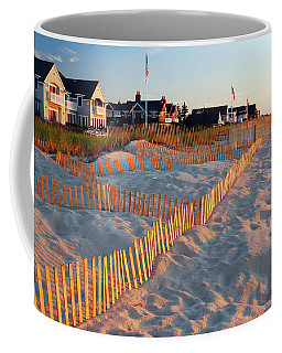 Early Morning On The Shore Coffee Mug by James Kirkikis