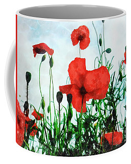 Early Morning Poppy Moment Coffee Mug