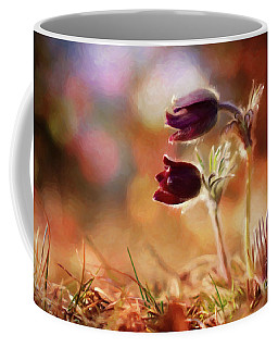 Early Morning Purple Pasque Coffee Mug