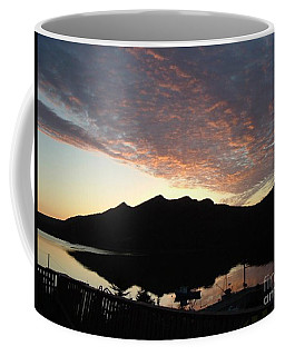 Coffee Mug featuring the photograph Early Morning Red Sky by Barbara Griffin