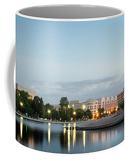 Coffee Mug featuring the photograph Early Morning Reflection In Washington D.c. by Greg Mimbs