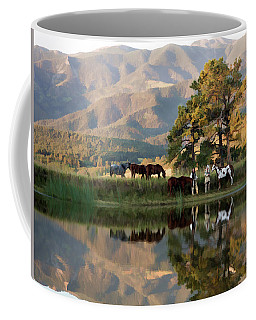 Early Morning Rendezvous Coffee Mug by Nadja Rider