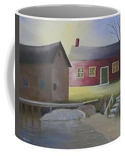 Early Morning Sun At The Shop Coffee Mug