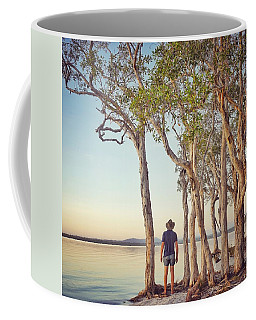 Coffee Mug featuring the photograph Early Morning Tranquility Down By The Lake by Keiran Lusk