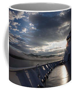 Early Morning Travel To Alaska Coffee Mug by Yvette Van Teeffelen
