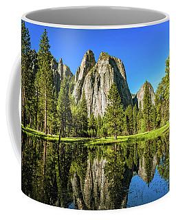 Early Morning View At Cathedral Rocks Vista Coffee Mug