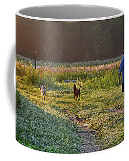 Early Morning Walk With Friends Coffee Mug