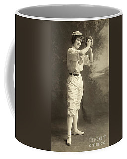 Early Portrait Of A Woman Baseball Player Coffee Mug