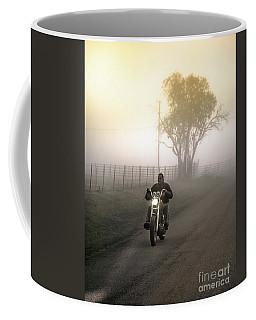 Early Rider In Fog Coffee Mug