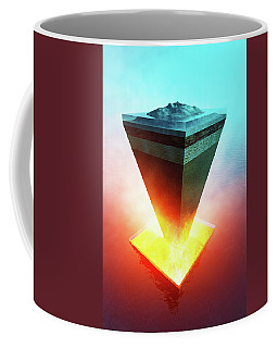 Earth Core Structure Cross-section Coffee Mug