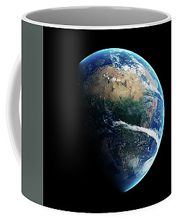 Earth Day And Night Space View Coffee Mug
