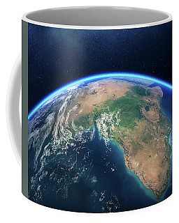 Earth From Space Africa View Coffee Mug