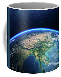 Earth From Space Asia View Coffee Mug