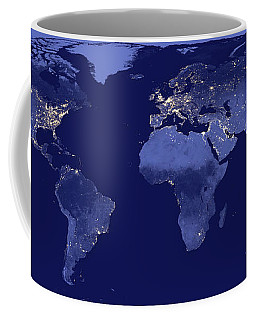 Coffee Mug featuring the photograph Earth From Space by Delphimages Photo Creations