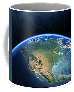 Earth From Space North America Coffee Mug