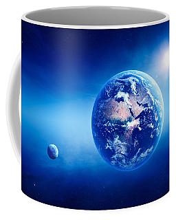 Earth Sunrise Deep Space Coffee Mug